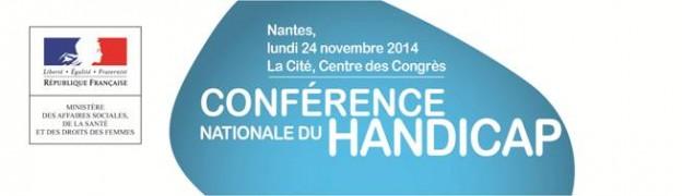 Conférence natioale du handicap en présence de Ségolène Neuville, Secrétaire d'État chargée des Personnes handicapées et de la Lutte contre l'exclusion, auprès de la ministre des Affaires Sociales.